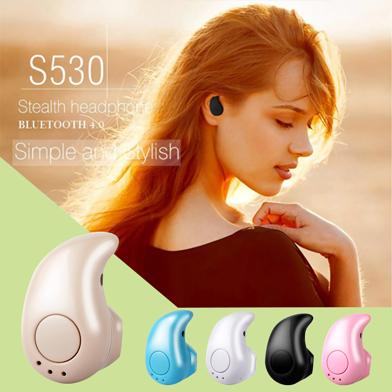 Mini S530 with Box Stereo Music Bluetooth Headphones 4.1 Earphone Wireless Headset Handfree for Samsung iPhone Huawei Laptop new dacom carkit mini bluetooth headset wireless earphone mic with usb car charger for iphone airpods android huawei smartphone