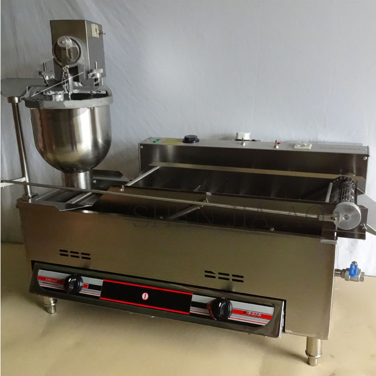 цена на Commercial Doughnut Maker Automatic Donut Frying Machine Stainless Steel Gas and Electric Donut Making Machine T-100A