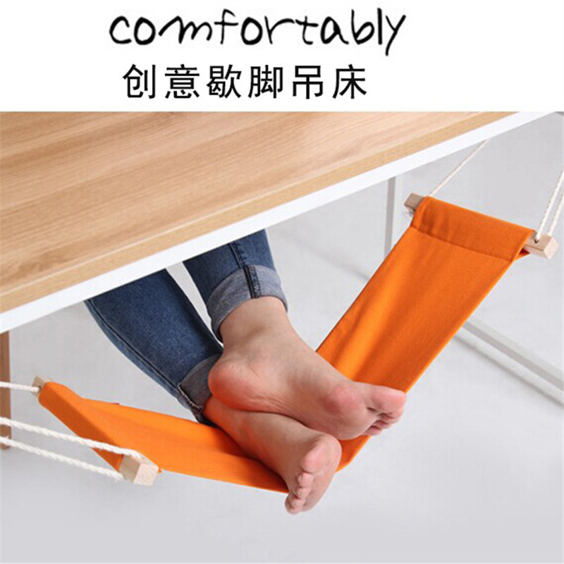 Office Foot Rest Stand Desk Feet Hammock Easy To