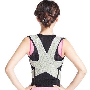 Corrección de cifosis cintura culturismo ortopédico postura Corrector Brace hombro columna vertebral cinturón de apoyo para hombres mujeres