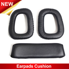 1 pair of Soft Replacement Ear pads Headband Cushion Black Earpads for Logitech G35 Black Headphones