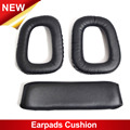 1 pair of Soft Replacement Ear pads Headband Cushion Black Earpads for Logitech G35 Black Headphones