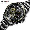RISTOS Extreme Sports Quartz Watch Casual Aço Inoxidável Relógios Reloj Masculino Homens Relógio com Data do Calendário 93019