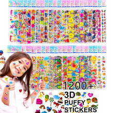 Kids Stickers 1200+, 40 Different Sheets 3D Puffy Bulk Stickers for Girl Boy Birthday Gift Scrapbooking Teachers Animals Cartoon(China)