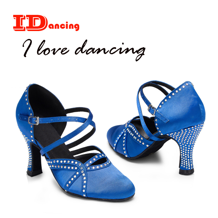 IDancing diamond ballroom shoes Waltz Salas womenn shoes close toe professional latin dance shoes autumn and winer 2018 new