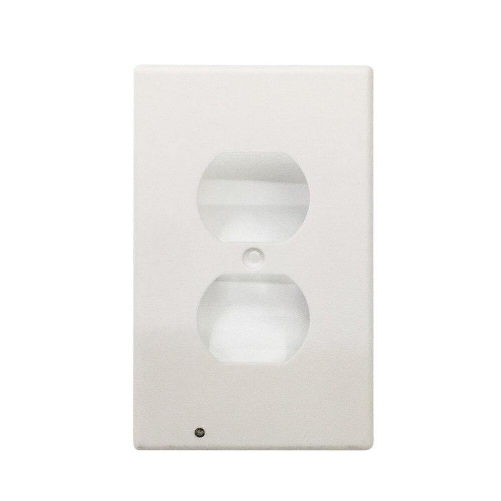 Led Socket Sensor Night Light Switch Plug Cover Easy Snap On Wall