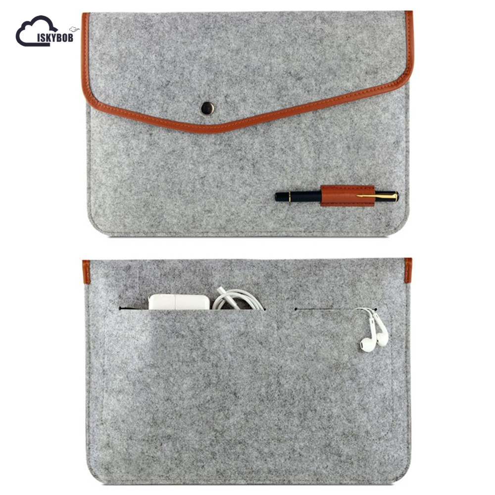 High Quality Notebook Laptop Wool Felt Sleeve Bag For Macbook Air 11
