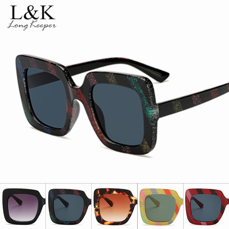 Women's Sunglasses Women's Glasses Oversize Men Women Square Sunglasses Luxury Brand Design Fashion Girls Square Eye Sun Glasses Vintage Party Goggles Retro Style 100% High Quality Materials