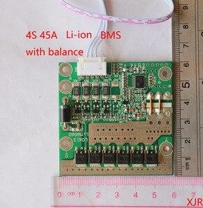 4S 45A PCM PCB BMS 18650 Защитная плата литий-ионного аккумулятора для 4 упаковок 18650 литий-ионных аккумуляторов с балансом