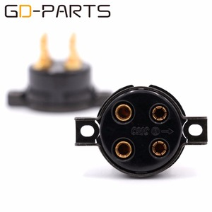 Image 5 - GD PARTS CMC baquelita 4pin toma de tubo para 2A3 300B FU 811 274A 572B chapado en oro cobre pin Hifi Vintage amplificador DIY