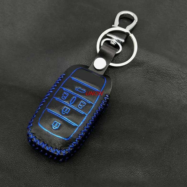 5 boutons Smart Key sac en cuir véritable télécommande voiture porte-clés etui clés pour Toyota Alphard Previa voiture style