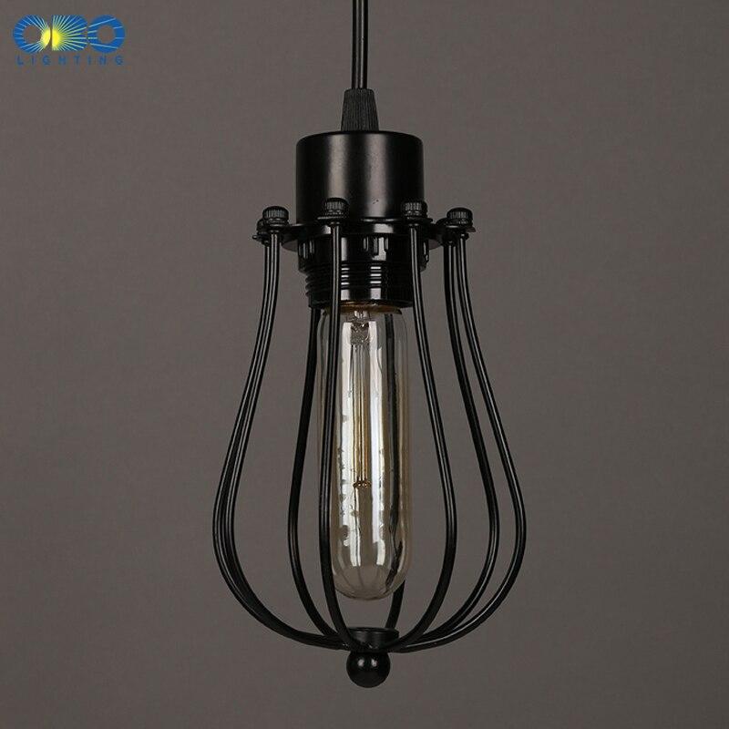Simple Black Metal Painted Vintage Pendant Lamps Indoor Bra Wire Cord 1 2 1 5m Pendant Lights E27 110 240V Free Shipping in Pendant Lights from Lights Lighting