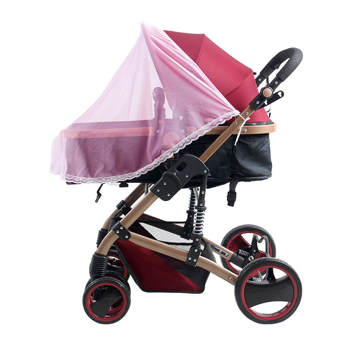 Universal Lace Mosquito and Insect Net for Baby Strollers Bassinets Cradles