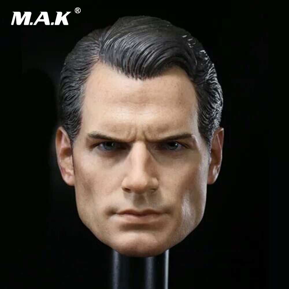 1/6 Scale BVS Superman Henry Cavill Headsculpt For 12  2.0 Male Muscular Body Collection Headply Head Carvings Toys Gift 1 6 batman joker heath ledger mask headsculpt for 12inch doll parts body clothes and body are not included