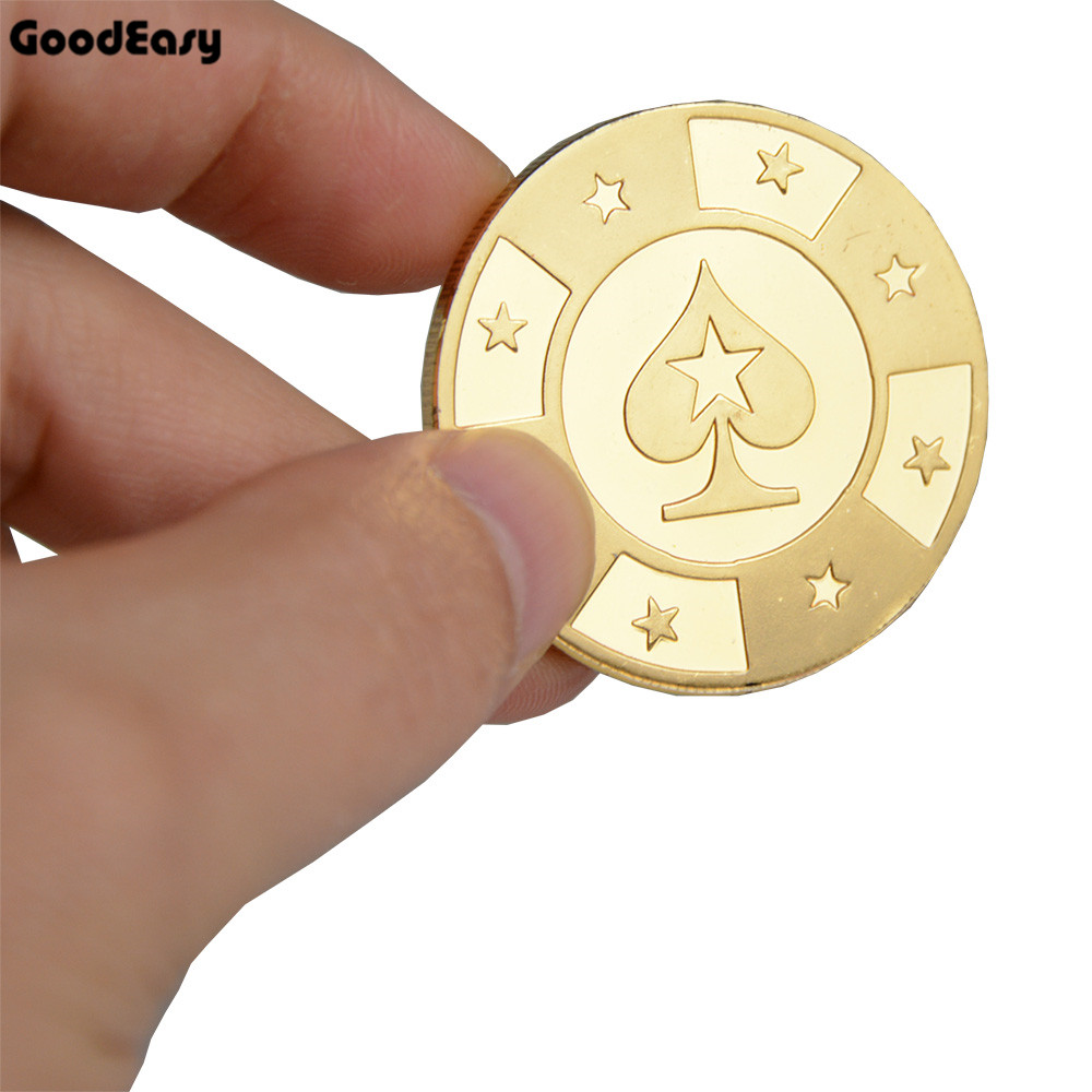 Hot Poker Cards Guard Protector Metal Token Coin With Plastic Cover Casino Texas Poker Chip Button - Poker Stars Coins Collect