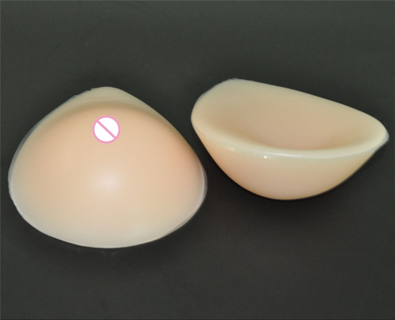 1pair 800g C cup Beige  Woman Silicone breast Forms Enlarge Bust Boobs Pads artificial molde de silicone drag queen crossdresser