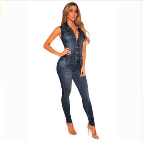 Женские джинсы, комбинезон летний комбинезон без рукавов, длинные штаны на пуговицах, Облегающий комбинезон, джинсовые комбинезоны, повседневные женские элегантные комбинезоны