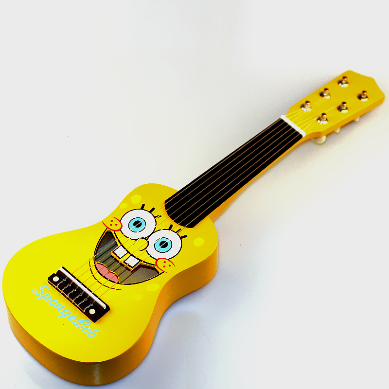 SOACH New High quality Cartoon wooden Children's guitar 6 Strings For guitarra gifts yellow Ukulele Guitar new high quality professional guitar strap 100