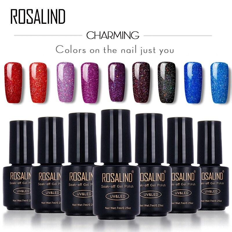 Розалинд черная бутылка 7 мл Неон Радуга Shimmer r01-29 лак для ногтей гелем Дизайн ногтей УФ светодиодный гель лак для ногтей