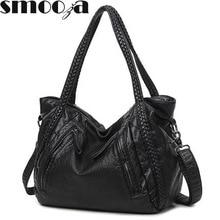 SMOOZA 2020 Große Weiche Leder Tasche Frauen Handtaschen Damen Umhängetaschen Für Frauen Schulter Taschen Weiblichen Große Trage Sac EIN wichtigsten