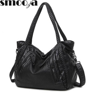 Image 1 - SMOOZA 2020 Large Soft Leather Bag Women Handbags Ladies Crossbody Bags For Women Shoulder Bags Female Big Tote Sac A Main