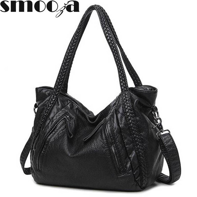 SMOOZA 2020 Large Soft Leather Bag Women Handbags Ladies Crossbody Bags For Women Shoulder Bags Female Big Tote Sac A Main