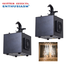 2pcs/lot Professional dmx and remote control stage waterfall cold spark fountain titanium metal powder fire wedding machine 2pcs lot 6 angle dmx fire machine 90v 240v dmx512 flame projectors spray fire machine safe to use 200w fire effect stage light