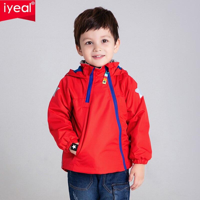 IYEAL/Новинка 2019 года; Осенняя верхняя одежда из флиса для детей; теплая спортивная детская одежда; водонепроницаемые ветрозащитные куртки для мальчиков; От 2 до 8 лет