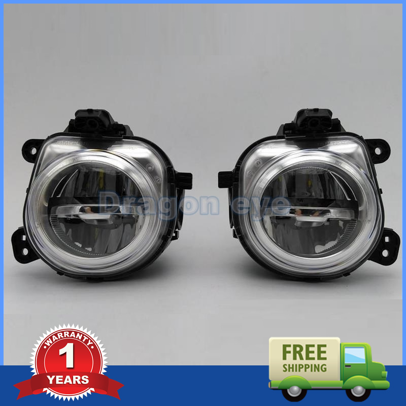 2 pcs Car LED Light For BMW X3 F25 X4 F26 X5 F15 X5 M F85 X6 F16 X6 M F86 New Front LED DRL Fog Light Fog Lamp Assembly