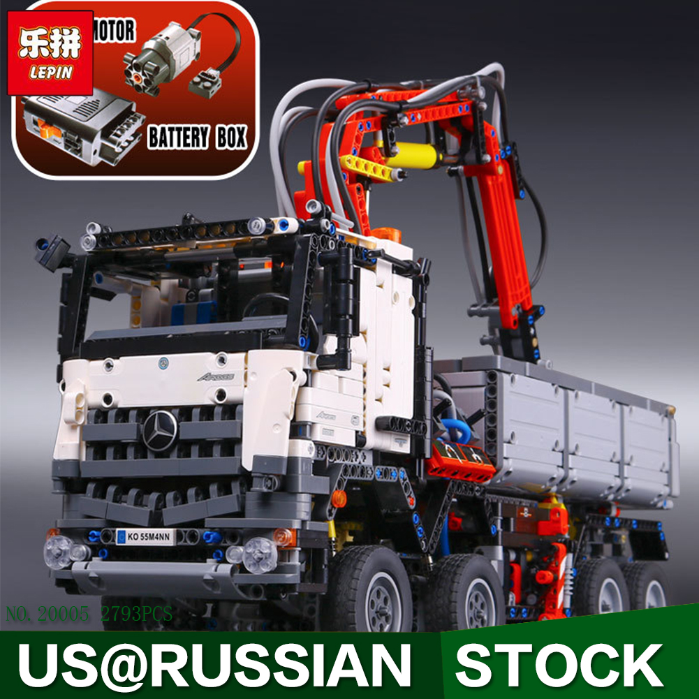 LEPIN 20005 technic series 42023 Arocs Model Building Block Bricks 2793pcs Compatible Whith Decool 3364 lepin 20005 2793pcs technic series model building block bricks compatible with boys toy gift compatible legoed 42023