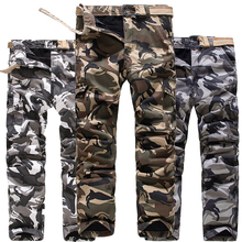 Army Green Snow White Camouflage Cargo Pants Men Winter Fleece Lined Camo Trousers Warm Thick