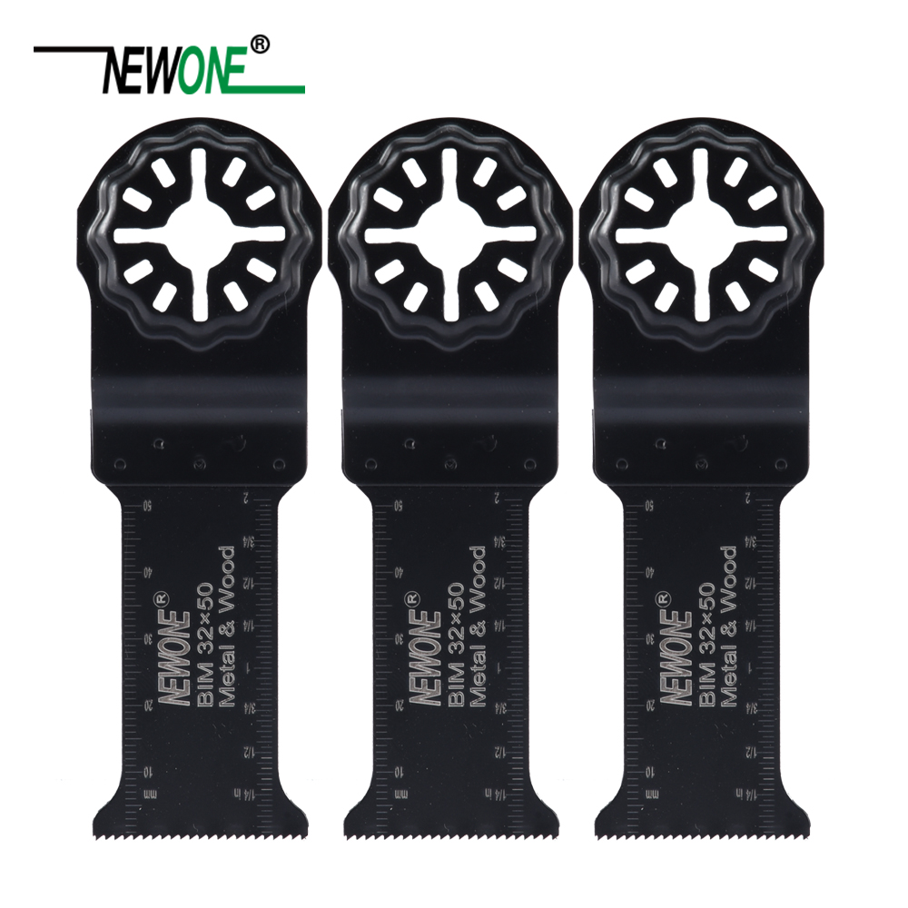 NEWONE 32*50mm Starlock Long BIM Saw Blades Fit Power Oscillating Tools For Wood Metal Cut Remove Nails And More
