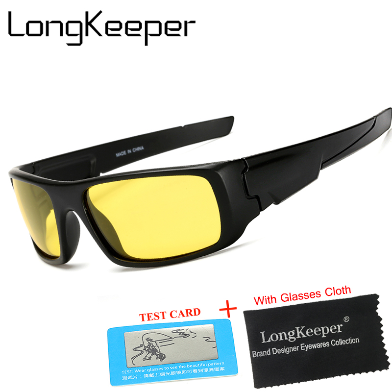 1c52fbdb6f LongKeeper Mens Polarized Black Night Vision Sunglasses For Night Driving  Enhanced Light At Rainy Cloudy Fog
