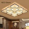 NEO Barlume di Rettangolo Moderna led lampadario a bracci del soffitto per soggiorno camera da letto apparecchi di AC85-265V Piazza lampadario a soffitto
