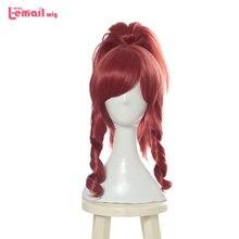 L-email wig LOL KDA Akali Cosplay Wigs Prestige Edition K/DA Cosplay Wig Purple Ponytail Heat Resistant Synthetic Hair Perucas