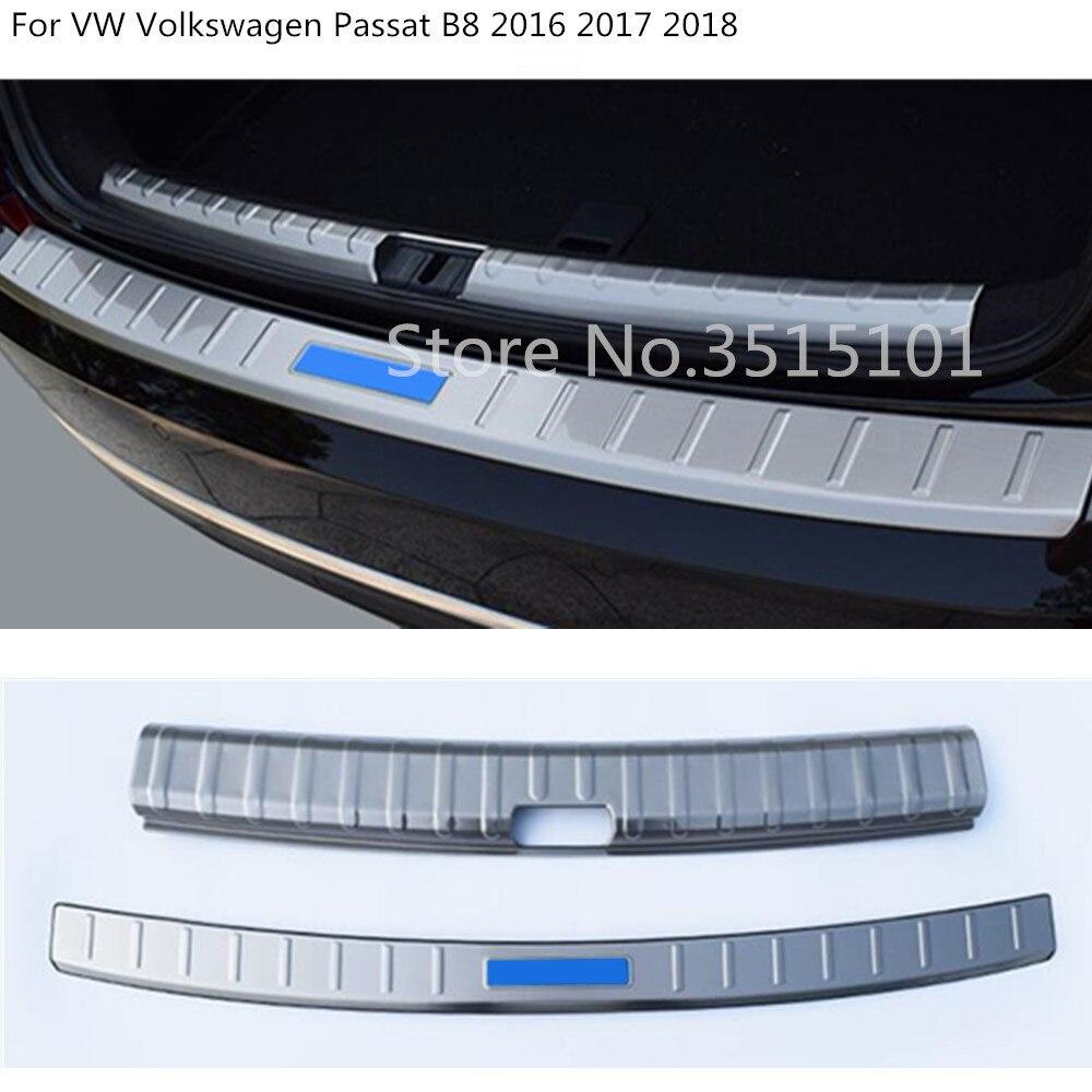 car internal outside inner Rear back Bumper trim plate Trunk frame threshold pedal For Volkswagen VW Passat B8 2016 2017 2018 стоимость