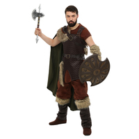 Limited Adult Men Deluxe Nordic Viking Warrior Historical Character Halloween Costumes