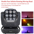 LED Double Face Infinite с вращающейся подвижной головкой 9x3W + 12x4W DJ Light 10/18/25 Channel DMX512 Disco Party Stage Effect Lighting