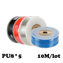 PU8*5  10M/lot Air pipe, pneumatic hose, air duct, compressor parts water Pneumatic hose