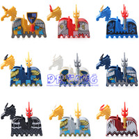 50pcs Medieval Castle Knights Heavy Armour War Horse Saddle Building Blocks Bricks Toys FOR Children Gifts
