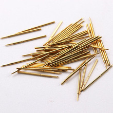 PA50-B Circuit Board Test Probe Nickel Plated Needle Length 16.35mm Metal Spring Thimble 100 Pcs / Package