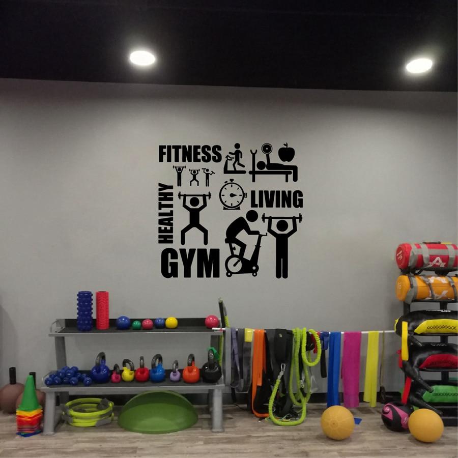 Compra gimnasio decoraci n de la pared online al por mayor - Decoracion de gimnasios ...
