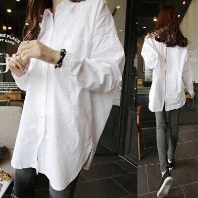 Ladies Oversized White Shirt - Greek T Shirts