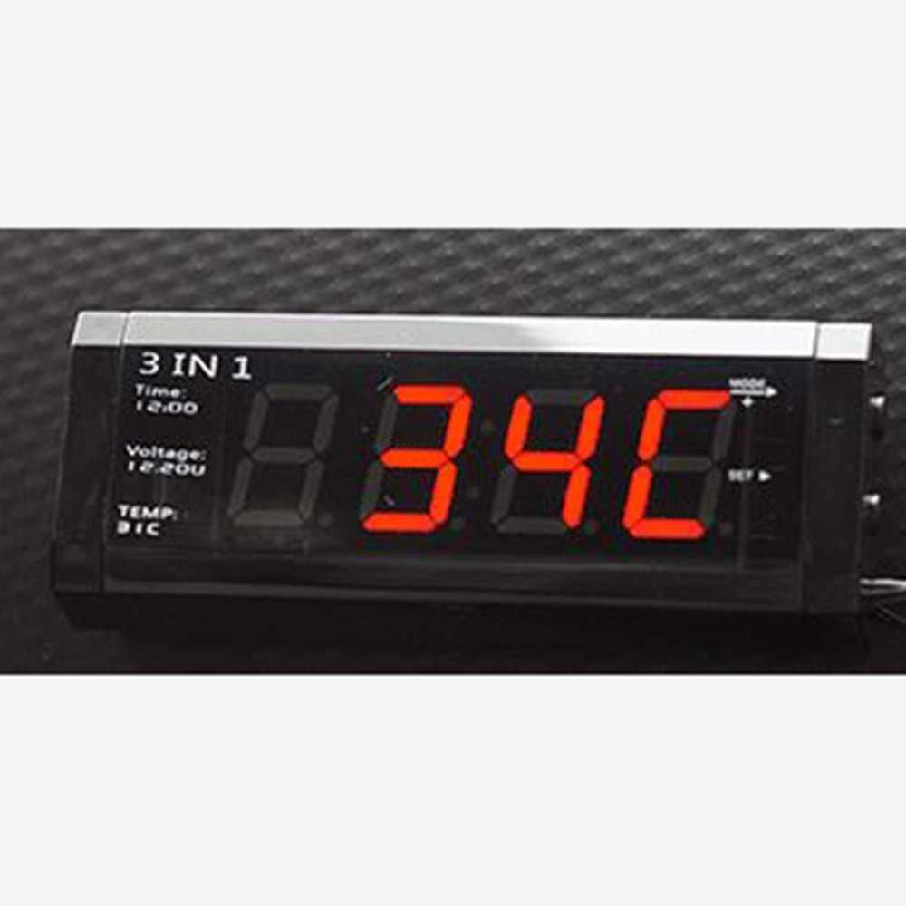 Car 3 in 1 12V Digital Auto Car Thermometer Voltmeter Voltage Meter Tester Monitor LCD screen Display Clock for Alfa Romeo