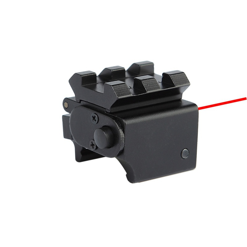 Image 4 - For Pistol Air gun Rifle Hunting Accessious Mini Adjustable Compact Red Dot Laser Sight With Detachable Picatinny 20mm Rail-in Hunting Gun Accessories from Sports & Entertainment