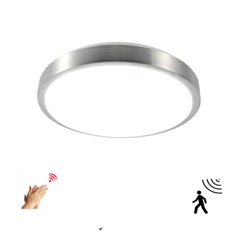 Движения Сенсор/радар человеческого индукции акриловые светодиодные принадлежности для потолочного светильника ресторан для ванной комнаты, проход Лестницы балконные потолочные светильники-in Потолочные лампы from Лампы и освещение