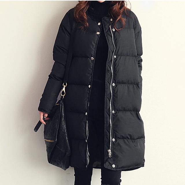 2016 mulheres jaqueta de inverno Espessamento médio-longo casaco de inverno outerwear amassado jaqueta feminina de algodão-acolchoado jacket parka