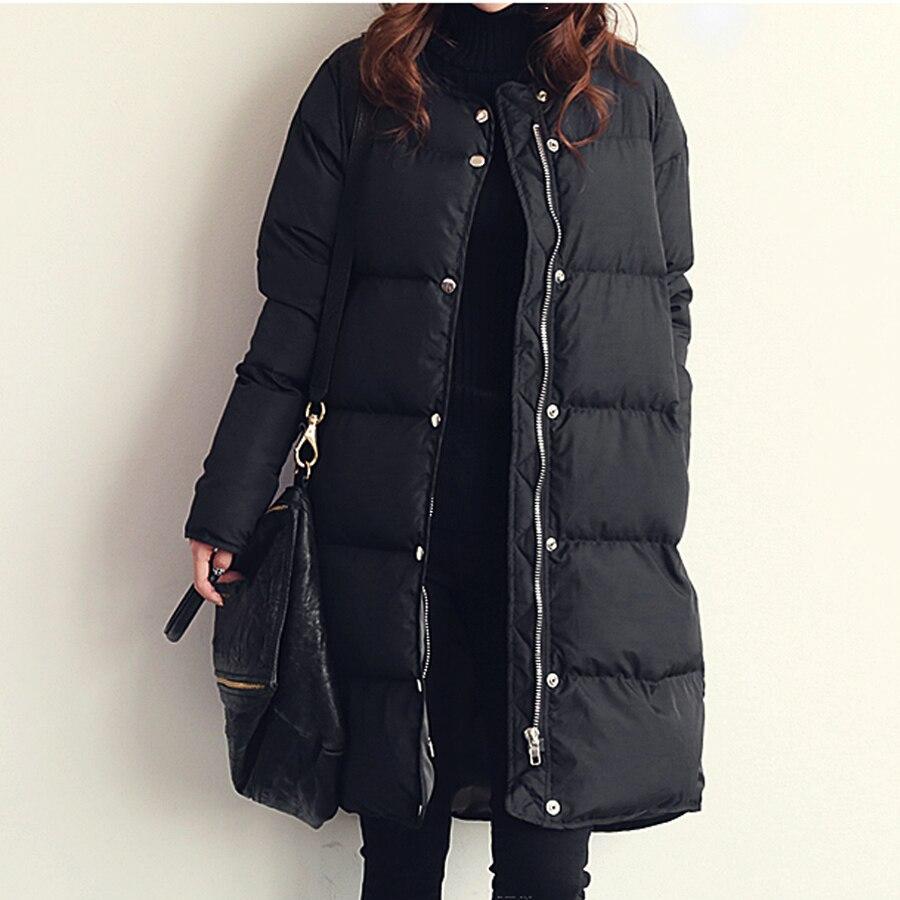 Pinky Is Black Thickening winter jacket women medium-long winter coat outerwear wadded jacket female cotton-padded jacket parka