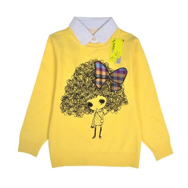 Niños niños suéteres de las muchachas suéter ropa moda para las muchachas ocasional hecho punto largo manga del suéter de algodón ropa infantil