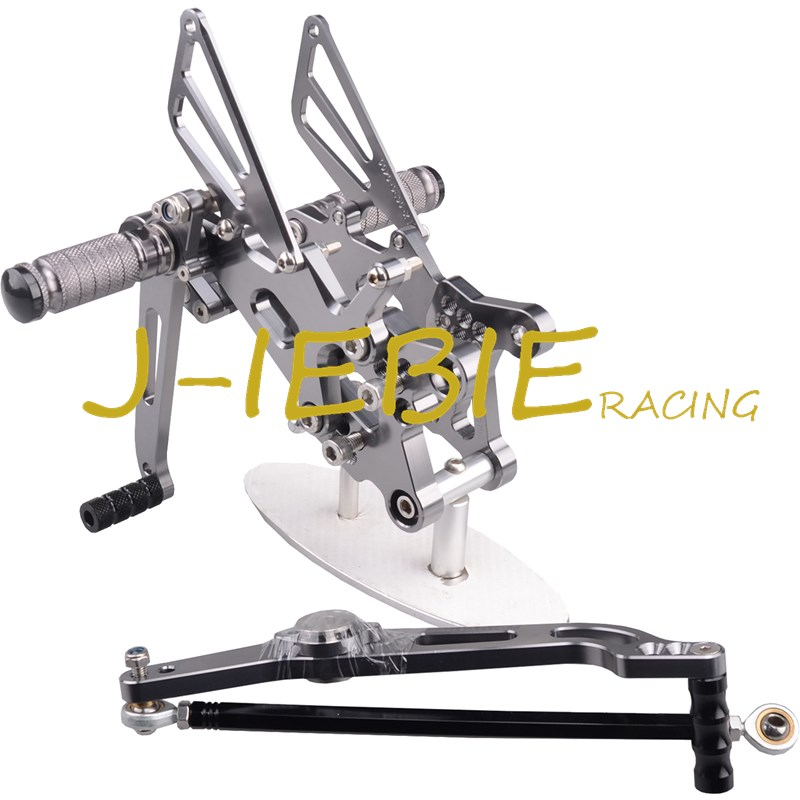 CNC Racing Rearset Adjustable Rear Sets Foot pegs Fit For Yamaha YZF R6 2006 2007 2008 2009 2010 2011 2012 2013 2014 TITAINUM free shipping motorcycle parts silver cnc rearsets foot pegs rear set for yamaha yzf r6 2006 2010 2007 2008 motorcycle foot pegs